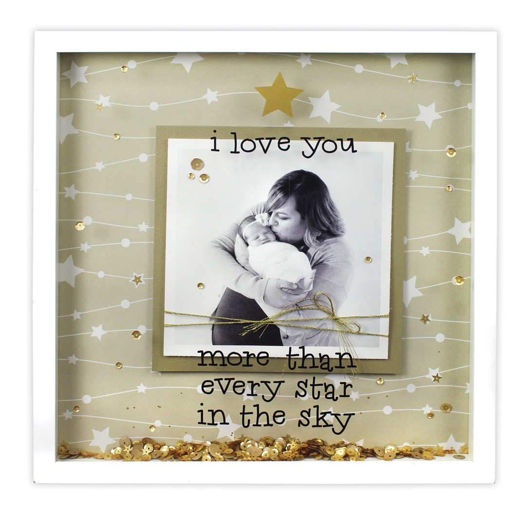 I Love You More 12x12 Shadowbox Crafts Direct