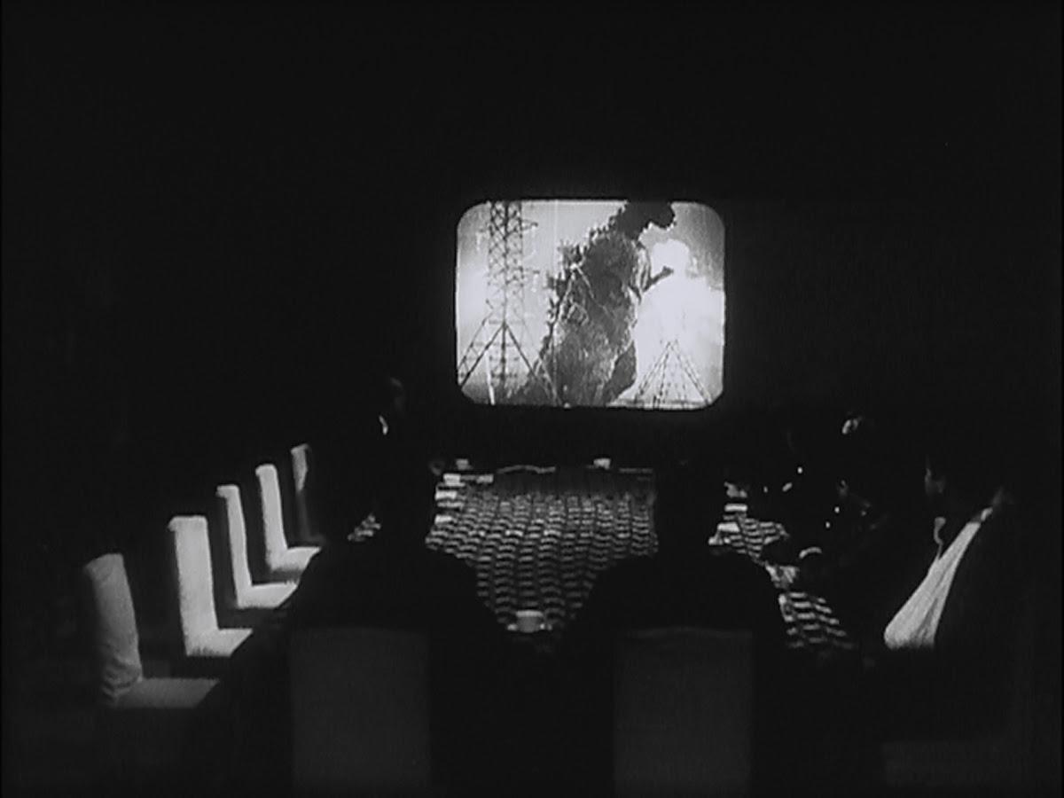 We're watching a documentary called Godzilla.