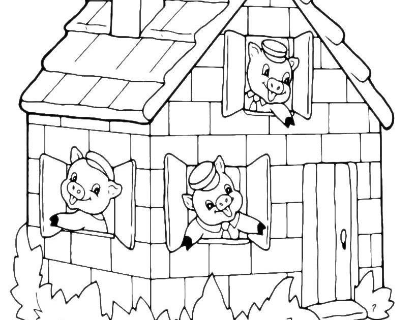 einzigartig die drei kleinen schweinchen ausmalbilder