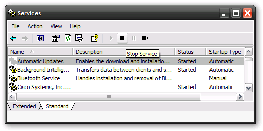 "Temporarily Disable ""Restart Now"" Dialog from XP's Automatic Updates"