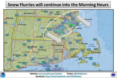 national weather service snow flurries map