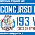 CONCURSO PÚBLICO COM 193 VAGAS DE NÍVEIS FUNDAMENTAL, MÉDIO E SUPERIOR