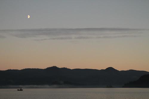 Moon over Haida Gwaii