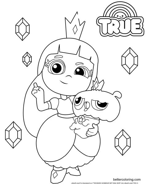 Coloring Pages True And The Rainbow Kingdom - Learn to Color