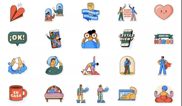 Nuevos stickers OMS WhatsApp