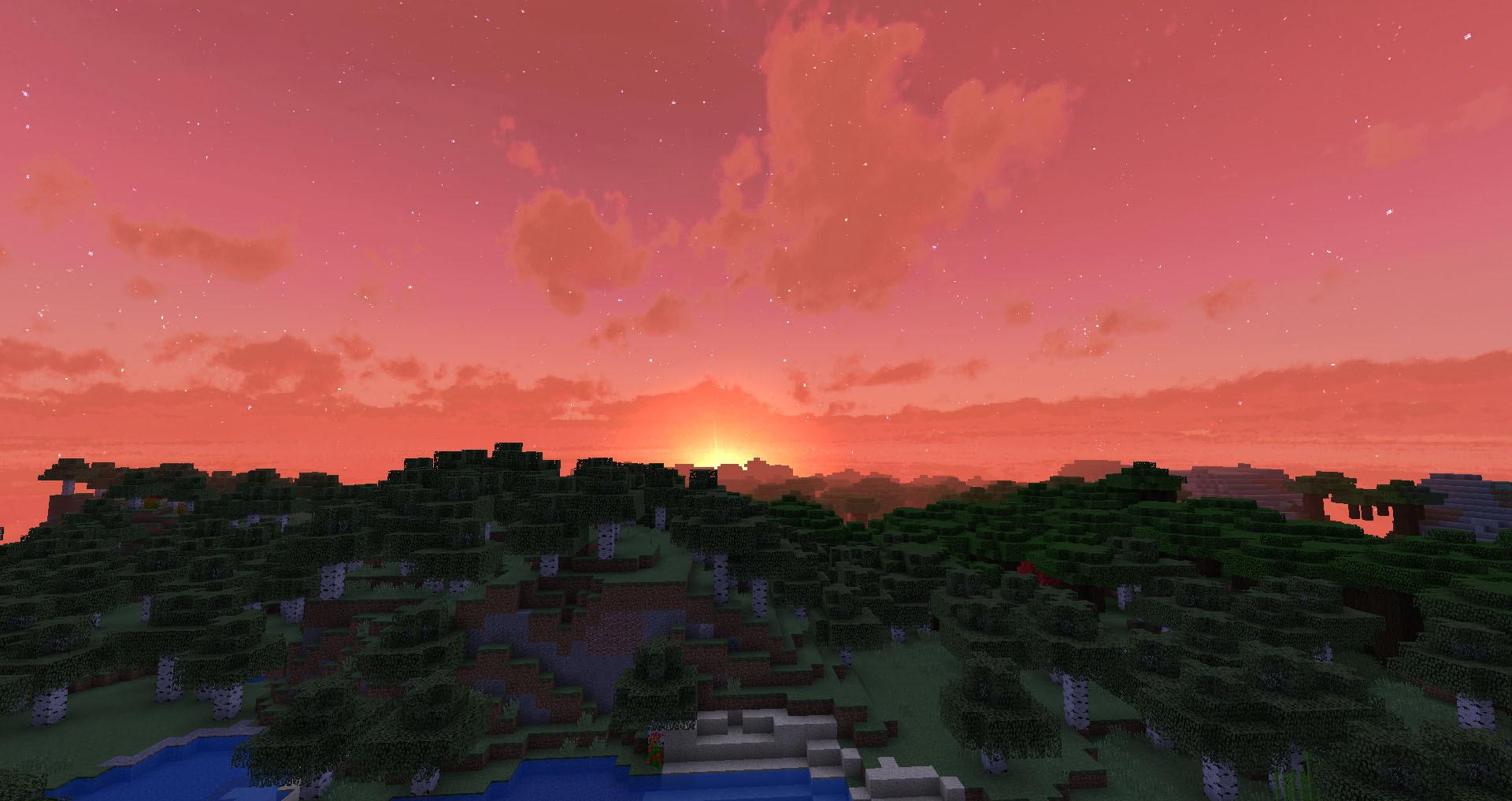 красивое небо на майнкрафт 1.7.2 #1