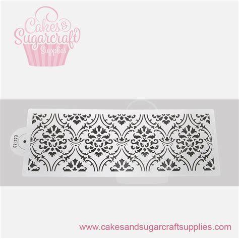 New Alexandra Damask Lace Cake stencil ST 273   Cakes