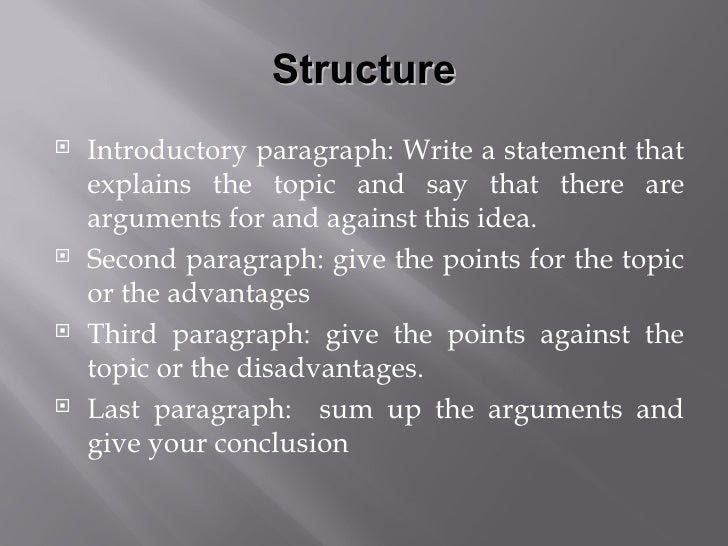 write an essay giving arguments for and against this statement