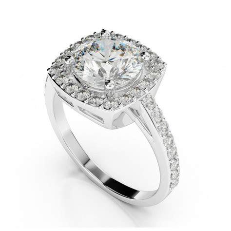1 Carat Forever One Moissanite & Cushion Diamond Halo