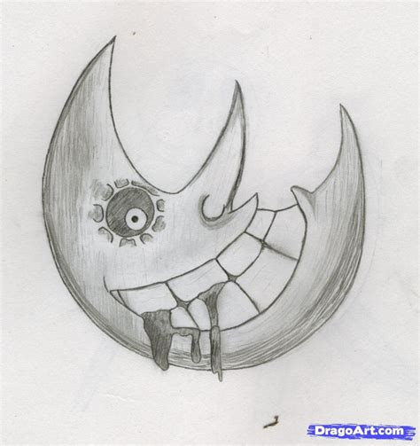draw  soul eater moon step  step anime