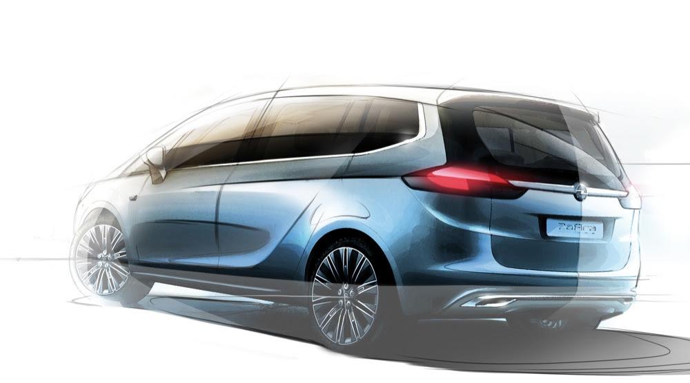 opelvauxhall zafira tourer concept revealed before geneva