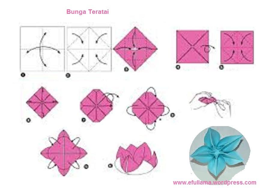 14 Gambar Bunga Dari Kertas Origami