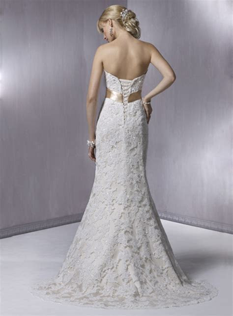 Marvelous Strapless wedding dress design back view   The