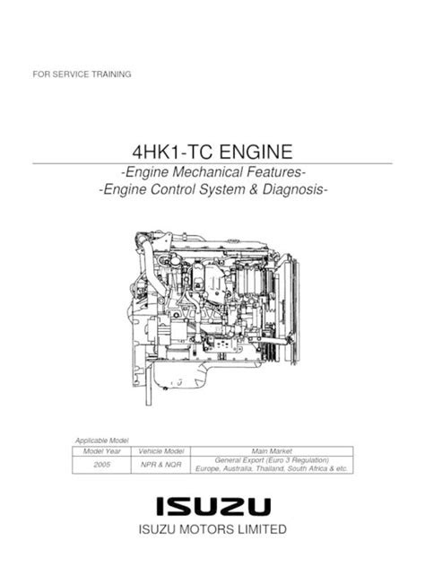 isuzu 4hf1 engine timing diagram - PngLine