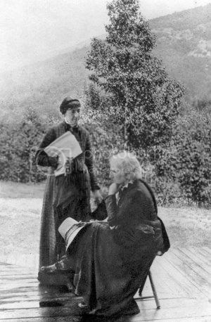 sculptor Anne Whitney with partner Addy Manning