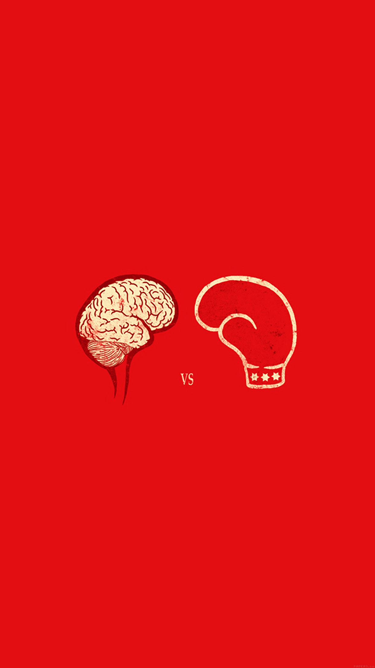 Iphone7papers Ai22 Brain Vs Boxing Illust Minimal Art