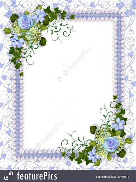 Templates: Wedding Invitation Blue Floral   Stock