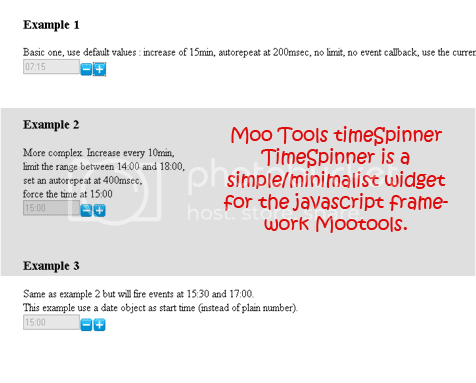Moo Tools timeSpinner