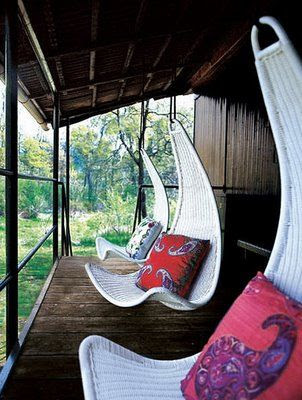 Hanging chairs on your porch