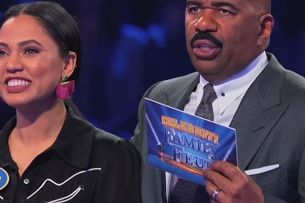56bfffbf2ca Ayesha Curry scored a legendary 194 on  Family Feud  against Chris Paul s  family. Celebrity ...