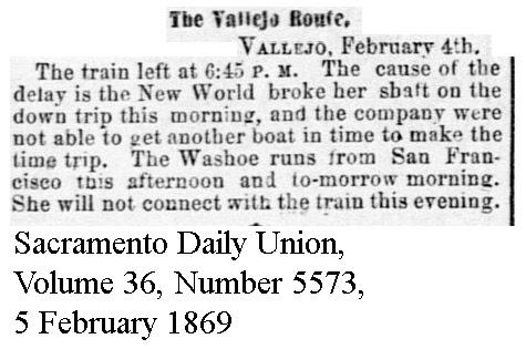 New World Broke Shaft - Sacramento Daily Union, Volume 36, Number 5573, 5 February 1869.