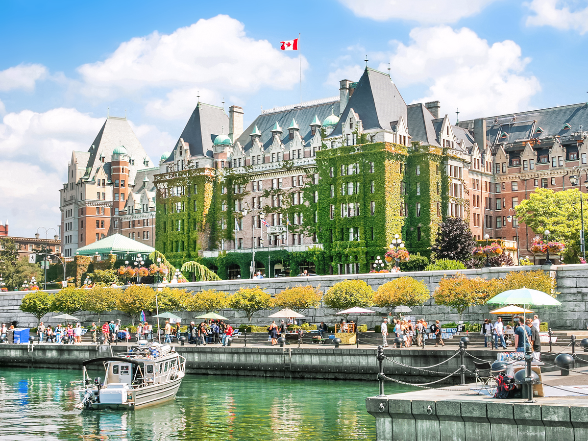 Over on Vancouver Island, the charming city of Victoria receives more than 3 million tourists every year.
