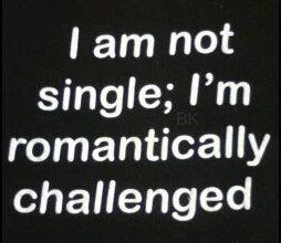 I Am Not Singleim Romantically Challenged Funny Quote