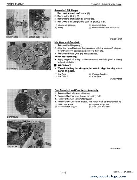 Kubota V2003-T-B, F2503-T-B Diesel Engines Workshop PDF