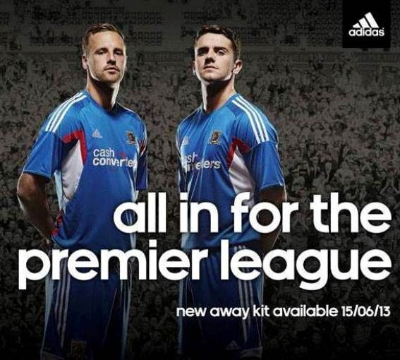 Hull City New Kit 2013/14- Adidas unveil HCAFC Away Jersey for 2013-2014 Premier League season