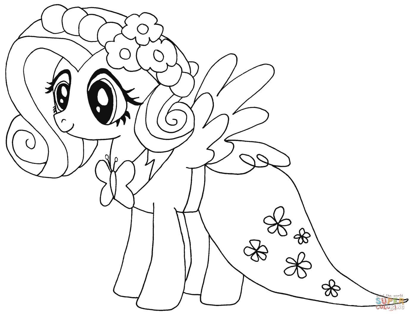 Dibujos De My Little Pony La Magia De La Amistad Para Colorear