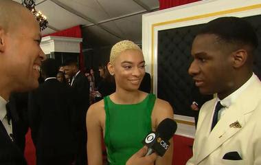 Leon Bridges interview at the Grammy Awards