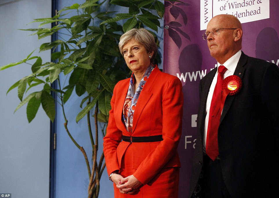 Mrs May said it was 'incumbent' on her party to stay on in government if it received the most seats in the election
