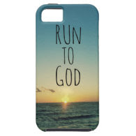 Inspirational Christian Quote Run to God Cover For iPhone 5/5S