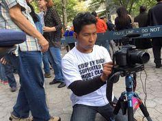 Protesting Prayuth Chan-ocha at the UN, New York  on 26 September 2015 Part 1 . . Protesting, Prayuth Chan-ocha, UN, New York .