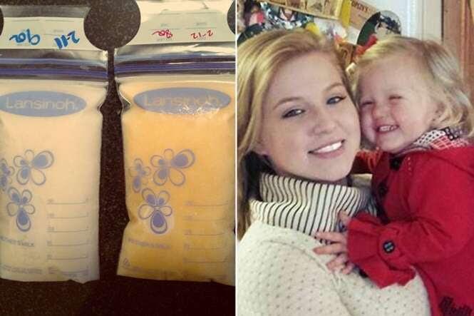 Mãe afirma que seu leite materno mudou drasticamente para salvar a vida de seu bebê