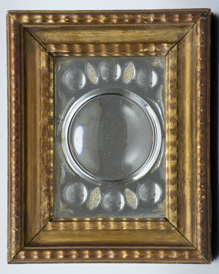 Antique Italian Cut Glass Mirror In Gilded Frame