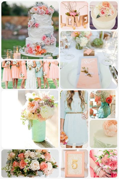 Peach, Mint and Gold Wedding theme   Beach Wedding Project