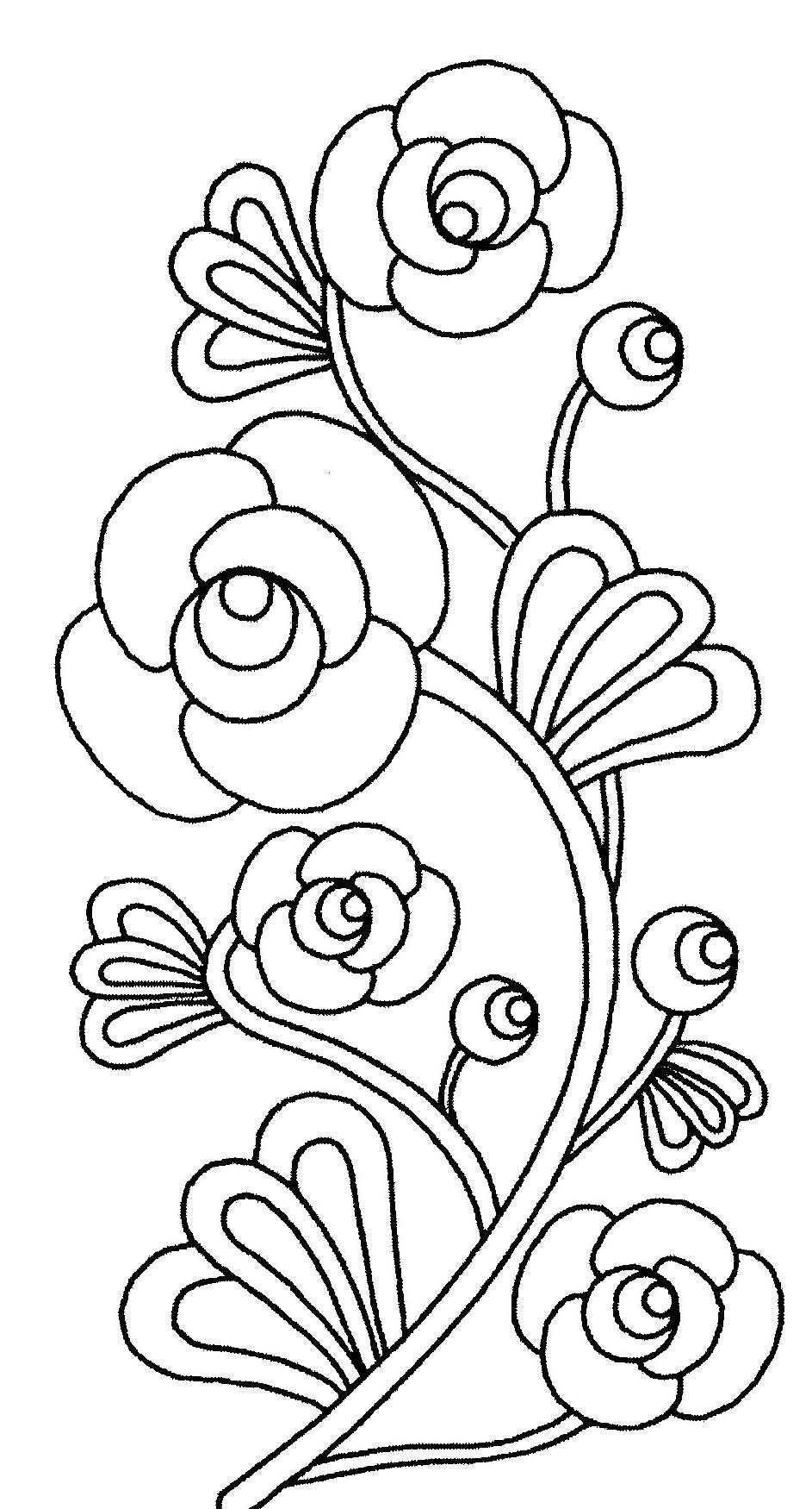 Coloriage de fleurs