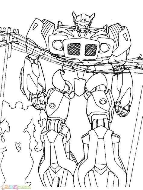 gambar mewarnai robot terlengkap  marimewarnaicom