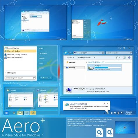 windows  theme aero  glow