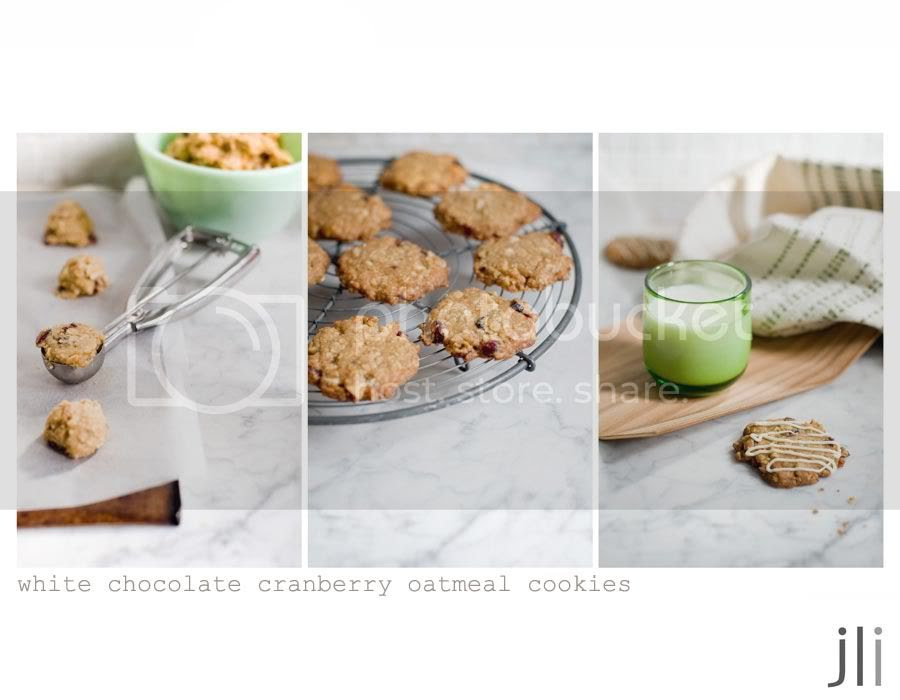 white chocolate cranberry macadamia oatmeal cookies