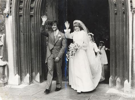 The Duke and Duchess of Westminster on their wedding day