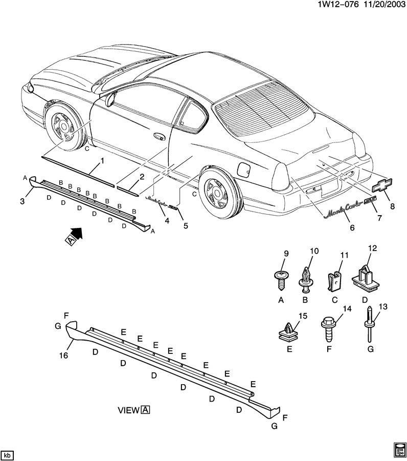 2004 Chevy Impala Exhaust System Diagram