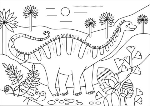 Ausmalbild Apatosaurus Dino Ausmalbilder Kostenlos Zum Ausdrucken