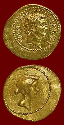 coin of Antony and Octavia