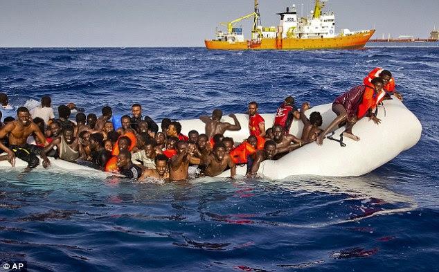 Image result for migrants in Mediterranean Sea