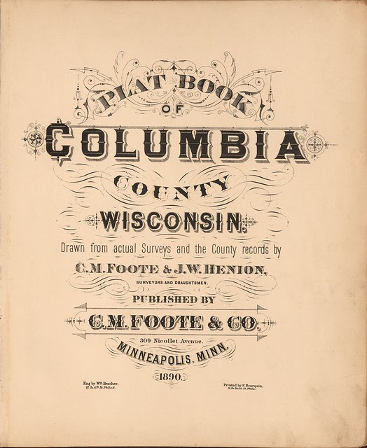 county map typographic forms