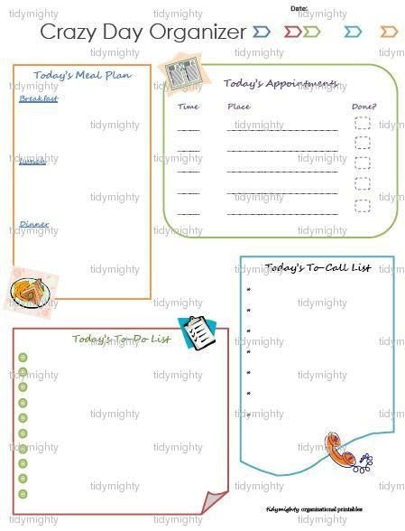 Daily Organizer Planner Printable | Daily Planner