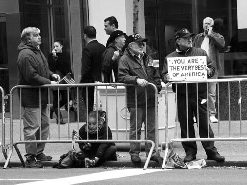 Veterans Day spectators