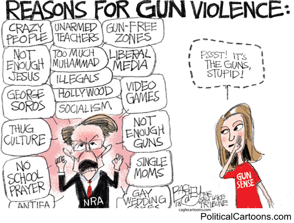 Reasons of gun violence